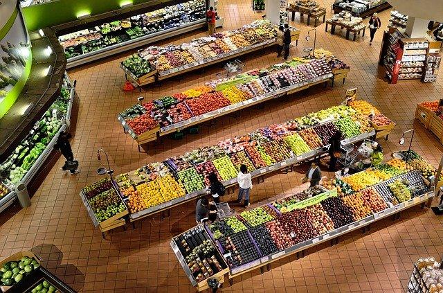 oddělení v supermarketu