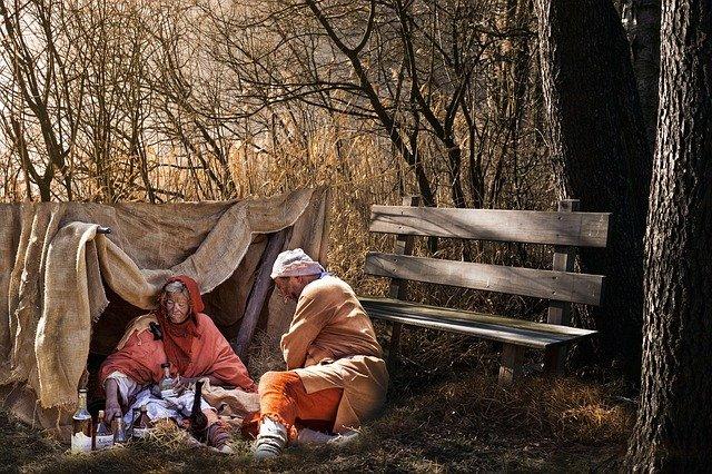 bezdomovci v lese