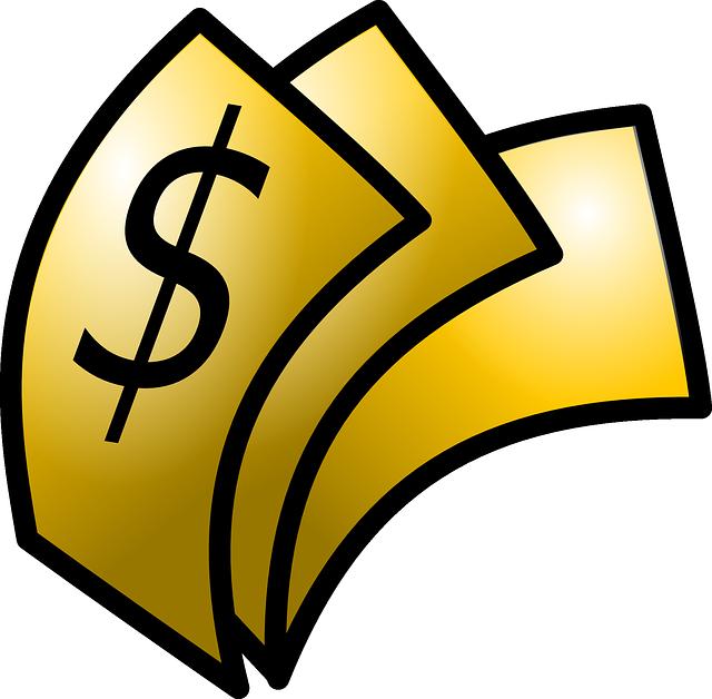 kreslené zlaté peníze