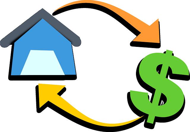 koloběh, dům, dolar