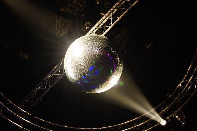 discokoule, bílý reflektor