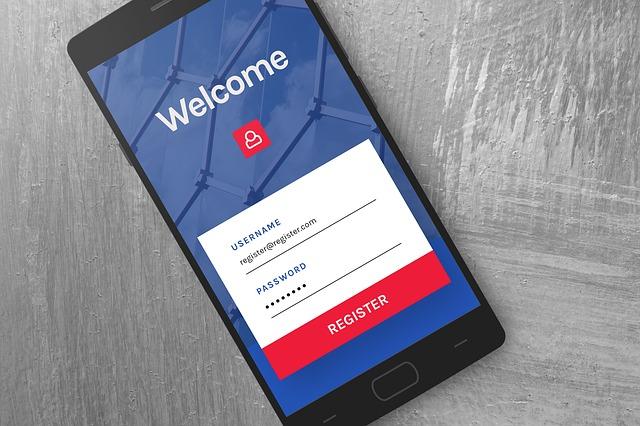 registrace v mobilu