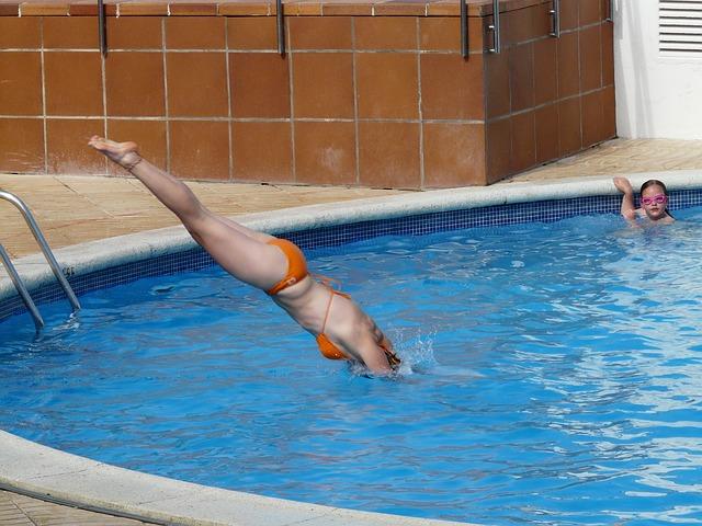 šipka do bazénu