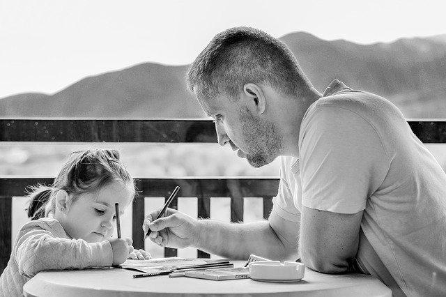 malování s tatínkem