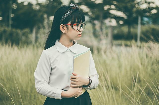asijská školačka