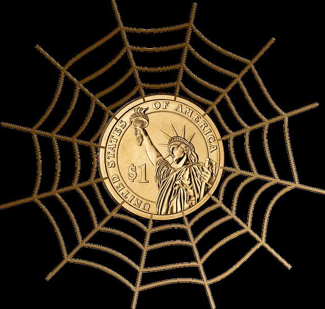 dolar v pavoučí síti