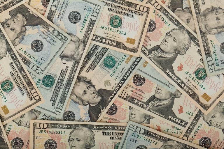 americké bankovky