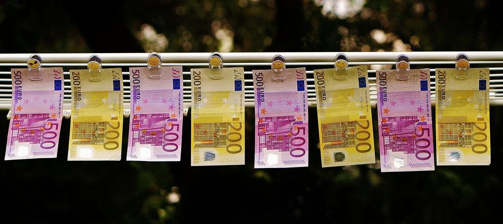 sušící se eura