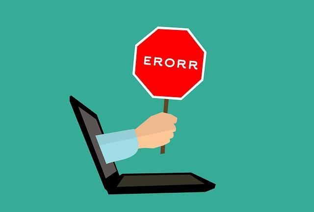 error počítače